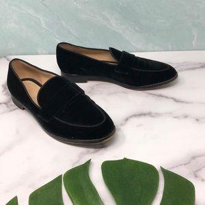 Franco Sarto Black Velvet Hudley Loafers 6.5M H3